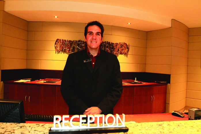 James, friendly staff member at Southern Sun Hotel