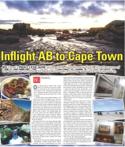 Inflight AB to Cape Town